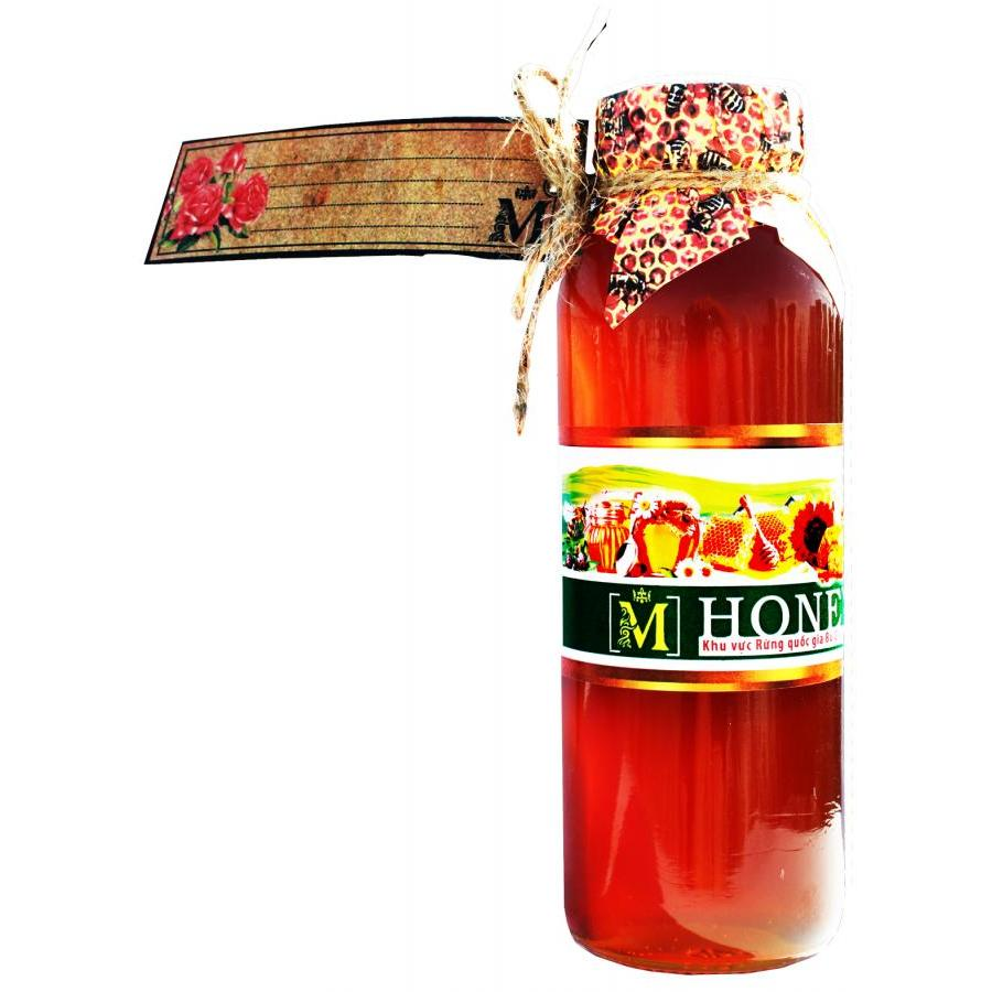 Mật ong M honey (300ml) - chai thủy tinh cao cấp, nắp tổ ong