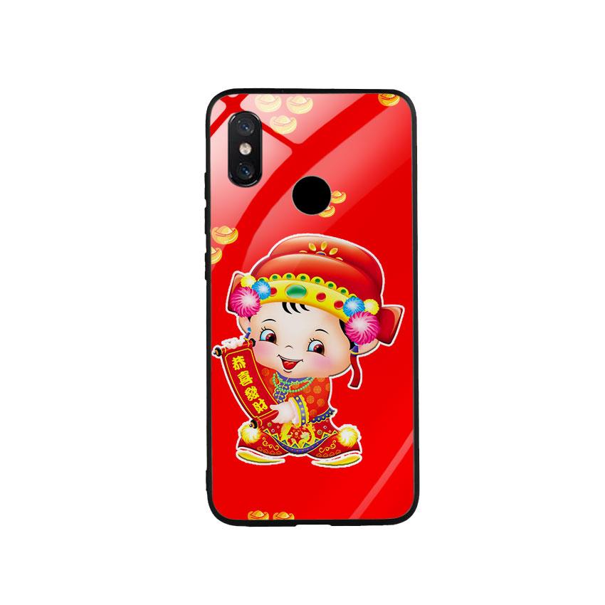 Ốp Lưng Kính Cường Lực cho điện thoại Xiaomi Mi 8 - Thần Tài 05
