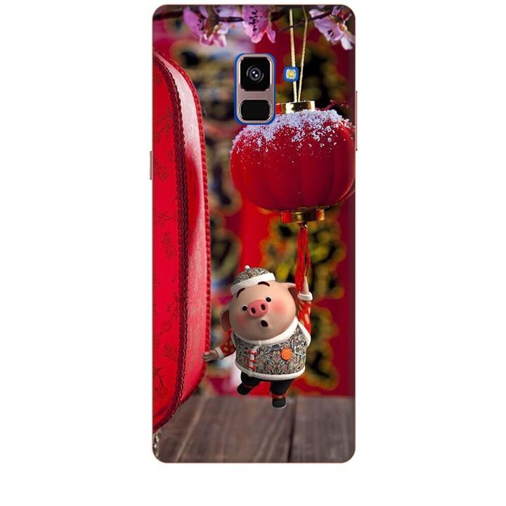 Ốp lưng dành cho điện thoại  SAMSUNG GALAXY A8 PLUS 2018 Heo Chúc Tết