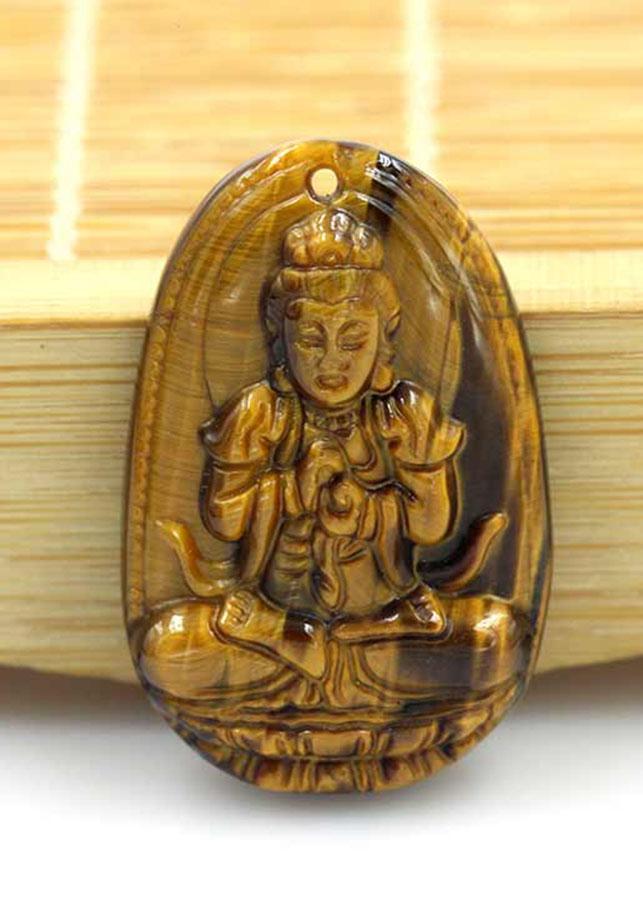 Mặt Dây Chuyền Phật Như Lai Đại Nhật Đá Mắt Hổ Vàng