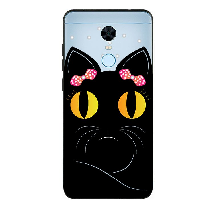 Ốp lưng viền TPU cho Xiaomi Redmi 5 Plus - Mèo Mun 02