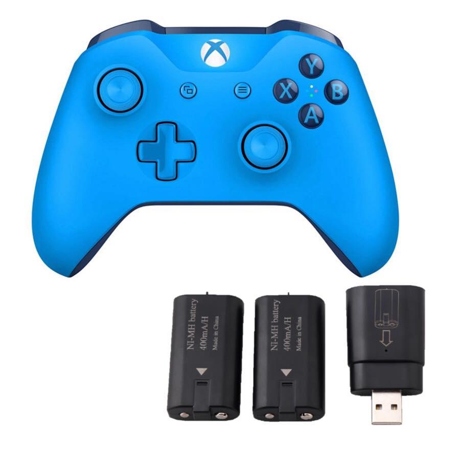 Tay Cầm Xbox one s (Blue) Tặng kèm 2 pin sạc 2a- hàng nhập khẩu