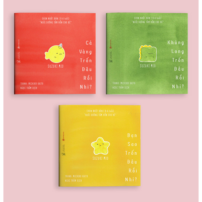 Combo Ehon Đi Đâu Thế - Bộ 3 Cuốn (Ehon Nhật Bản 0-6 Tuổi) - Kèm Sổ Tay Mini Siêu Dễ Thương