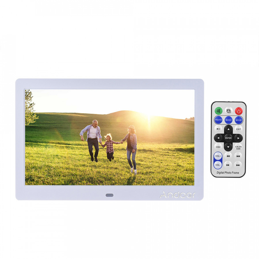Andoer 10 Inch Led Wide Screen Digital Photo Picture Frame Electronic Album High Resolution 1024 X 600 Mp3 Mp4 Picture