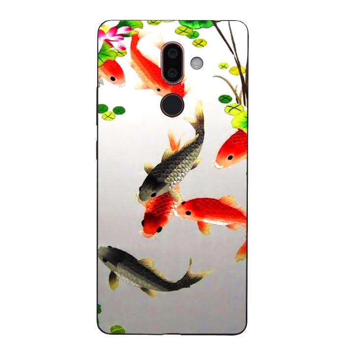 Ốp Lưng Dẻo Cho Điện Thoại Nokia 7 Plus - Fishes 03