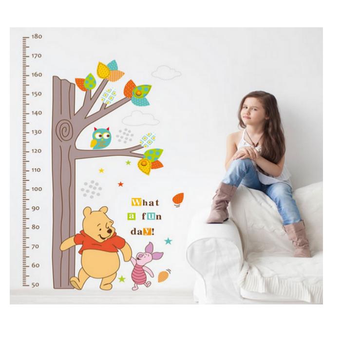 Decal Dán Tường Thước Đo Gấu Pooh TD11