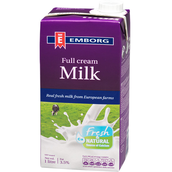 Sữa Tươi Nguyên Chất Tiệt Trùng Nguyên Kem Không Đường Emborg (1L) - 1426556 , 5701215046832 , 62_7377003 , 60000 , Sua-Tuoi-Nguyen-Chat-Tiet-Trung-Nguyen-Kem-Khong-Duong-Emborg-1L-62_7377003 , tiki.vn , Sữa Tươi Nguyên Chất Tiệt Trùng Nguyên Kem Không Đường Emborg (1L)