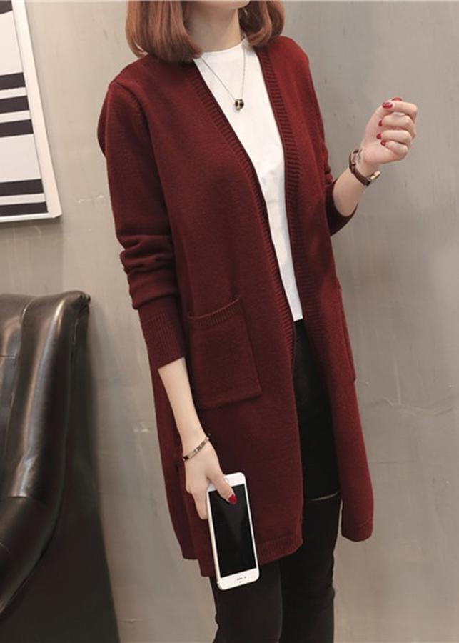 Áo khoác cardigan nữ dáng dài siêu ấm cao cấp, hàng nhập, chất đẹp - Free size