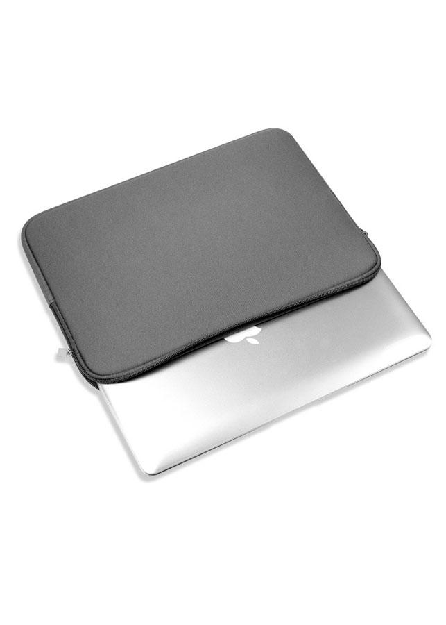 Túi chống sốc thời trang cho Macbook 13 inch- màu xám - Tặng 1 tấm lót chuột cao cấp