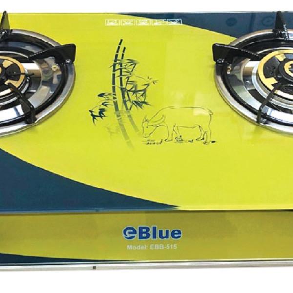 Bếp Gas Đôi Mặt Kính eBlue. (Sen Đồng) SKB515- Hàng Chính Hãng