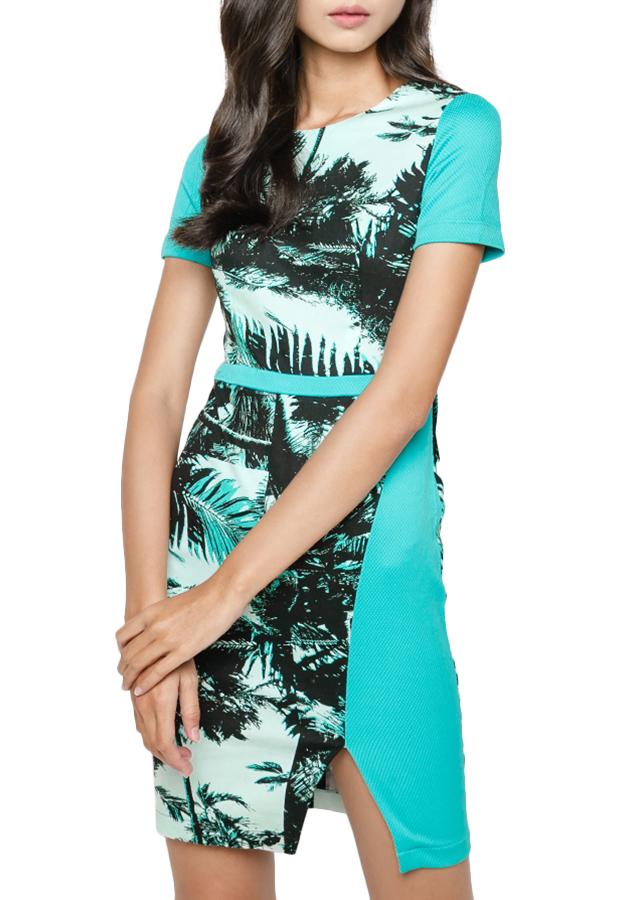 Đầm Cây Dừa Hanali - Xanh Da Trời