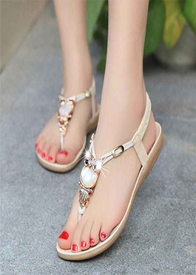 Giày Sandal cú mèo mặt đá SD229 - 1200559 , 1789349892499 , 62_7670825 , 220000 , Giay-Sandal-cu-meo-mat-da-SD229-62_7670825 , tiki.vn , Giày Sandal cú mèo mặt đá SD229