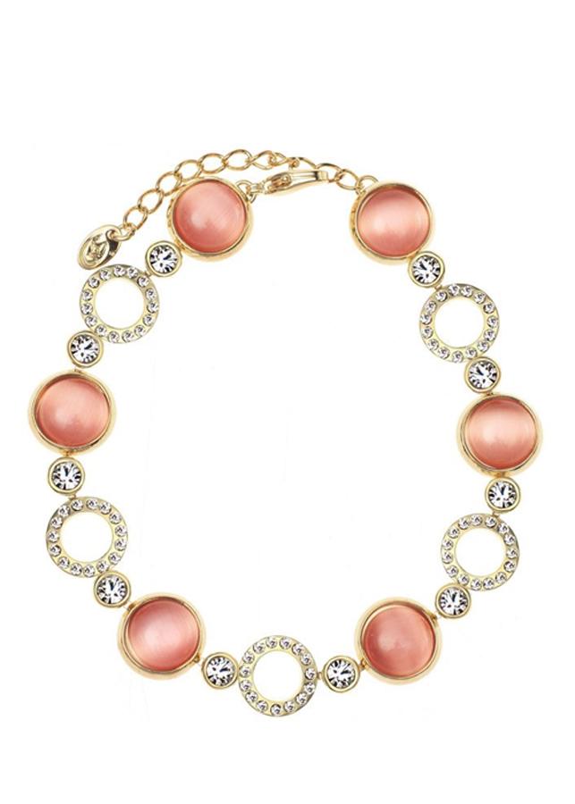 Vòng Tay Nữ Pink Crystal Opal Sala - Vàng Phối Hồng