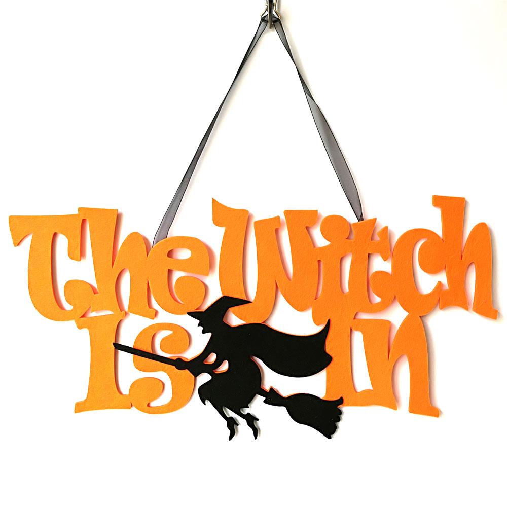 Chữ Trang Trí Halloween Treo Tường Họa Tiết Phù Thủy