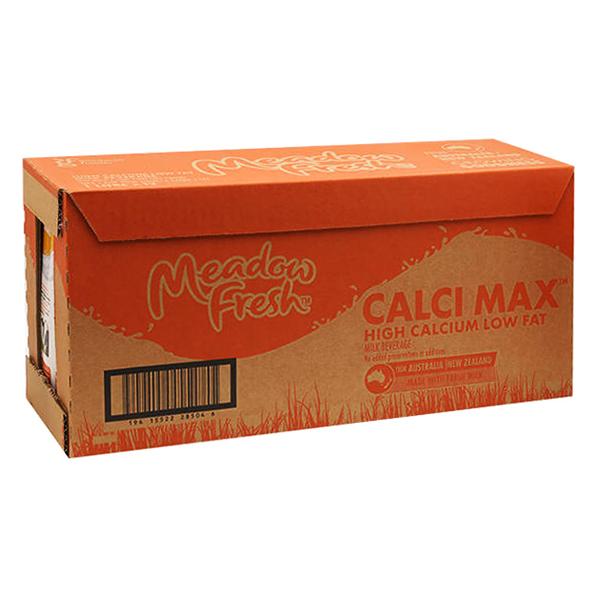 Thùng 12 Hộp Sữa Tươi Tiệt Trùng Giàu Canxi Meadow Fresh (12 x 1L)