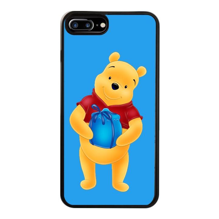 Ốp Lưng Kính Cường Lực Dành Cho Điện Thoại iPhone 7 Plus / 8 Plus Gấu Pooh Mẫu 2