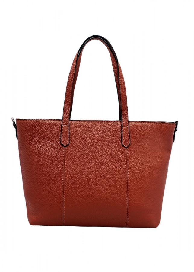 Túi xách tay nữ da bò thật màu nâu bò ET647