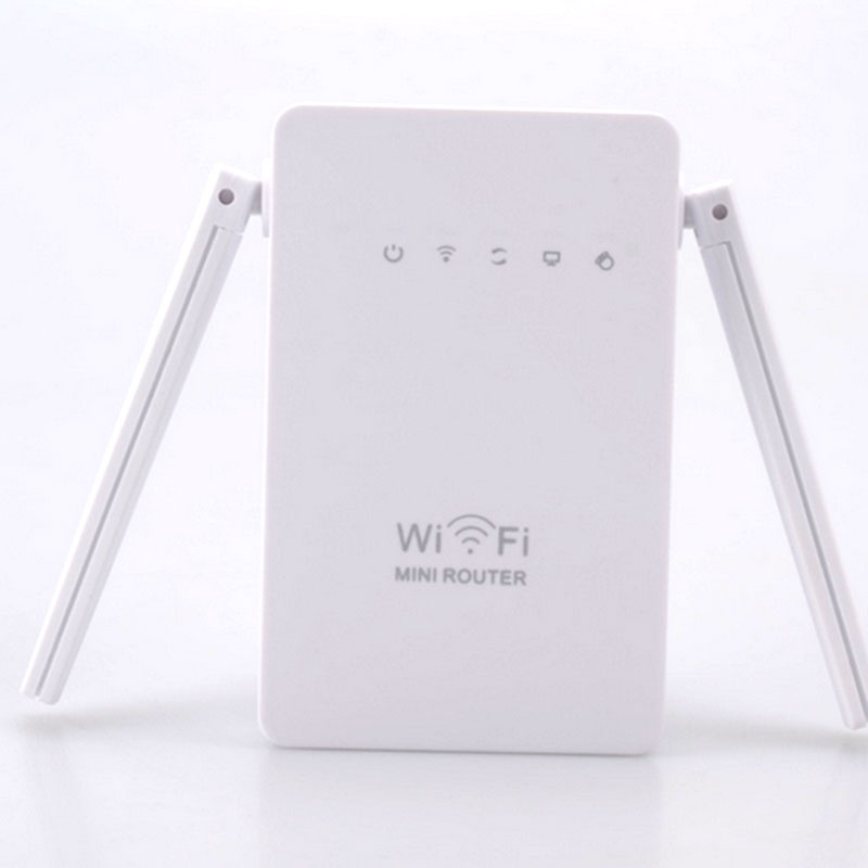 300Mbps Wireless WiFi Repeater Signal Booster Network Router EU Plug White