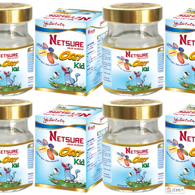 Combo 6 lọ Yến cao cấp Netsure dành cho Trẻ em Kid Vitamin bổ sung dinh dưỡng (12% yến, 70ml/lọ)