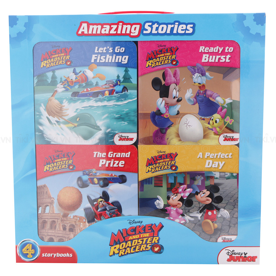 Disney Mickey And The Roadster Racers - 4 Board Books In A Box