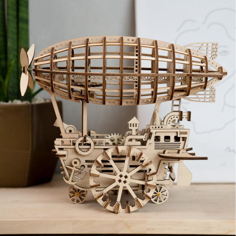 Đồ chơi lắp ráp gỗ 3D Mô hình Cơ động học Khí Cầu - LK702 Airship Robotime