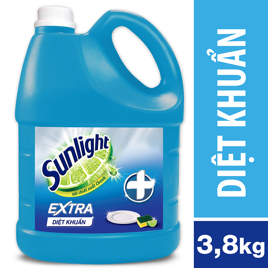 Nước Rửa Chén Sunlight Diệt Khuẩn Dạng Chai 3.8kg - 1977760 , 8934868101420 , 62_168287 , 112000 , Nuoc-Rua-Chen-Sunlight-Diet-Khuan-Dang-Chai-3.8kg-62_168287 , tiki.vn , Nước Rửa Chén Sunlight Diệt Khuẩn Dạng Chai 3.8kg