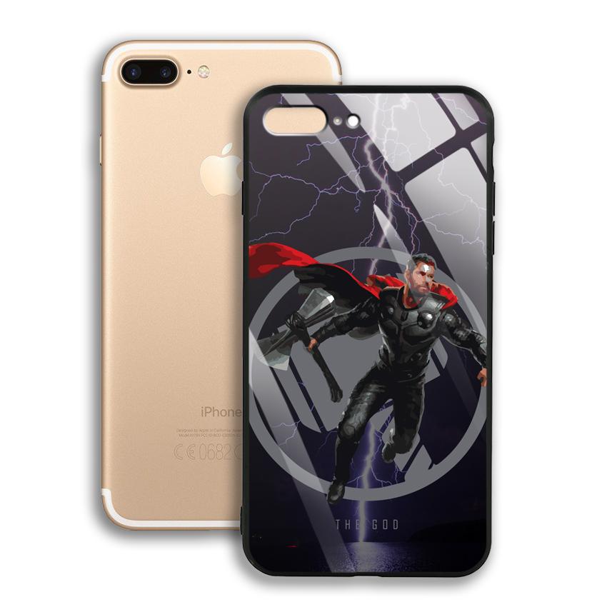 Ốp Lưng Kính Cường Lực cho điện thoại Apple Iphone 7 Plus / 8 Plus - 03004 0540 GOD01 - Hàng Chính Hãng