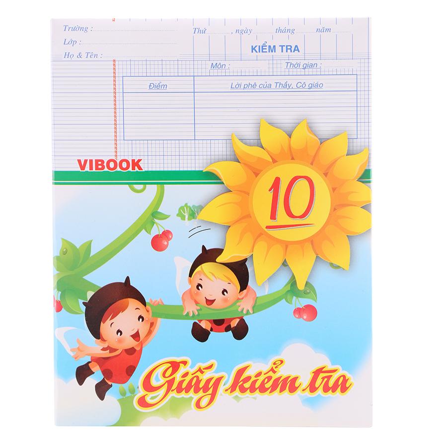 Giấy Kiểm Tra Hộp Vibook KTH100R In Caro (20 Tờ)
