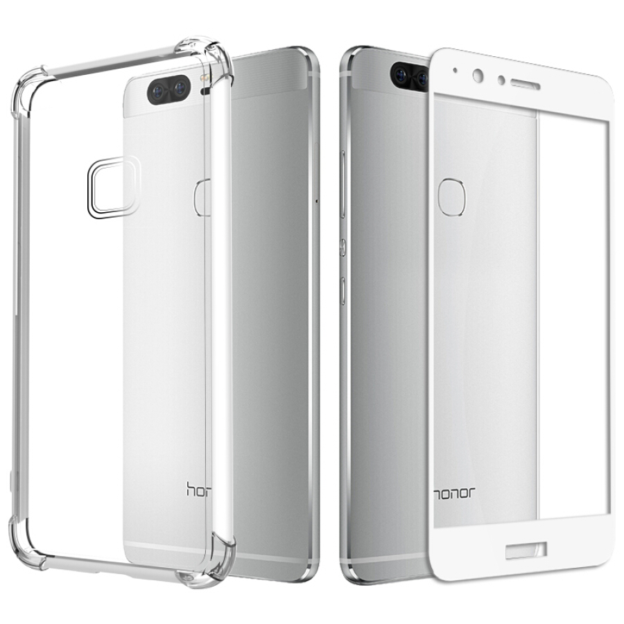 Combo Kính Cường Lực Full Màn Hình + Ốp Lưng Silicon Chống Sốc ESCASE Huawei Glory V8