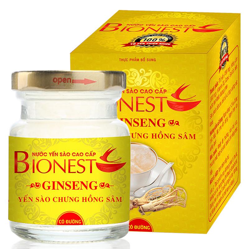Hộp Yến sào Bionest Ginseng hồng sâm cao cấp - 1 lọ
