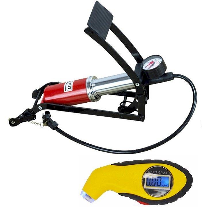 Combo Bơm hơi đạp chân 1 Pitton kèm Đồng hồ điện tử đo áp suất lốp xe chuyên dụng cho ô tô xe máy - 1167742 , 3694053801027 , 62_4702345 , 400000 , Combo-Bom-hoi-dap-chan-1-Pitton-kem-Dong-ho-dien-tu-do-ap-suat-lop-xe-chuyen-dung-cho-o-to-xe-may-62_4702345 , tiki.vn , Combo Bơm hơi đạp chân 1 Pitton kèm Đồng hồ điện tử đo áp suất lốp xe chuyên dụng