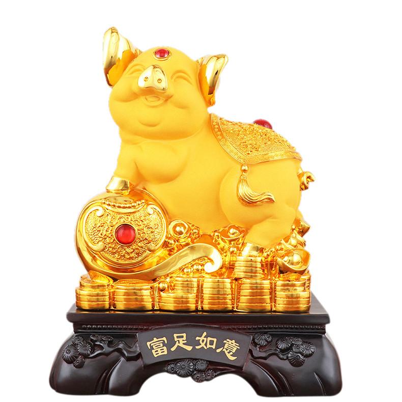 Tượng heo phong thủy trên đống tiền vàng - Phú Túc Như Ý