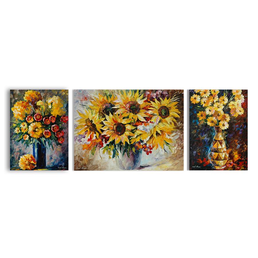 Bộ 3 Tranh Canvas Trang Trí Phòng Khách Hiện Đại Tặng Kèm Đinh Treo Tranh Chuyên Dụng - Khung Hình Phạm Gia PG5