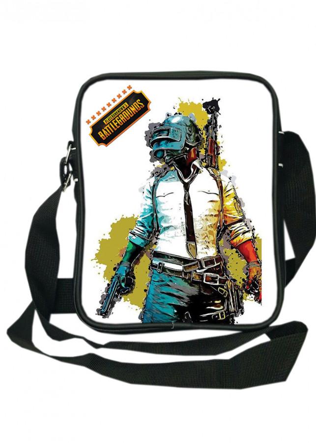 Túi da đeo chéo TROY TRTD001 in hình chiến binh PlayerUnknown