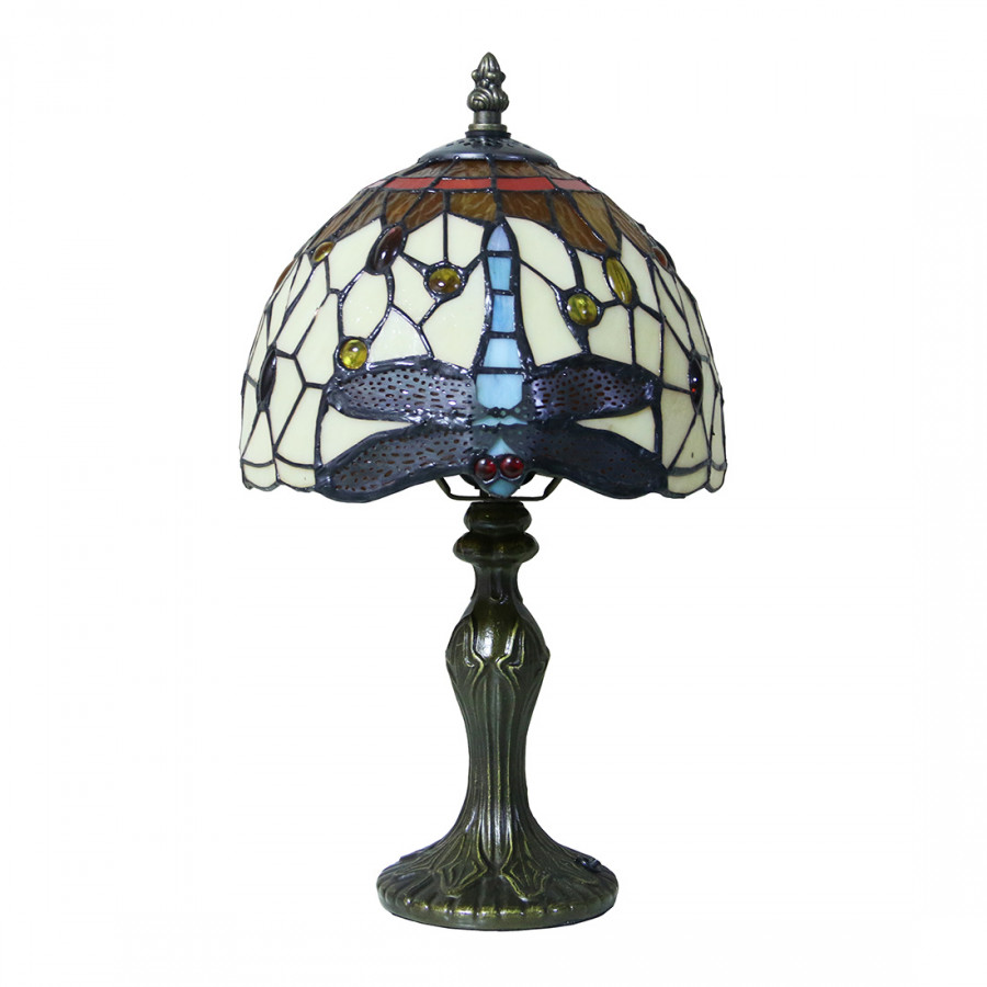 Tiffany Colored Glass Dragonfly European Style Table Lamp Lhj-Td1771301 For Living Room And Study