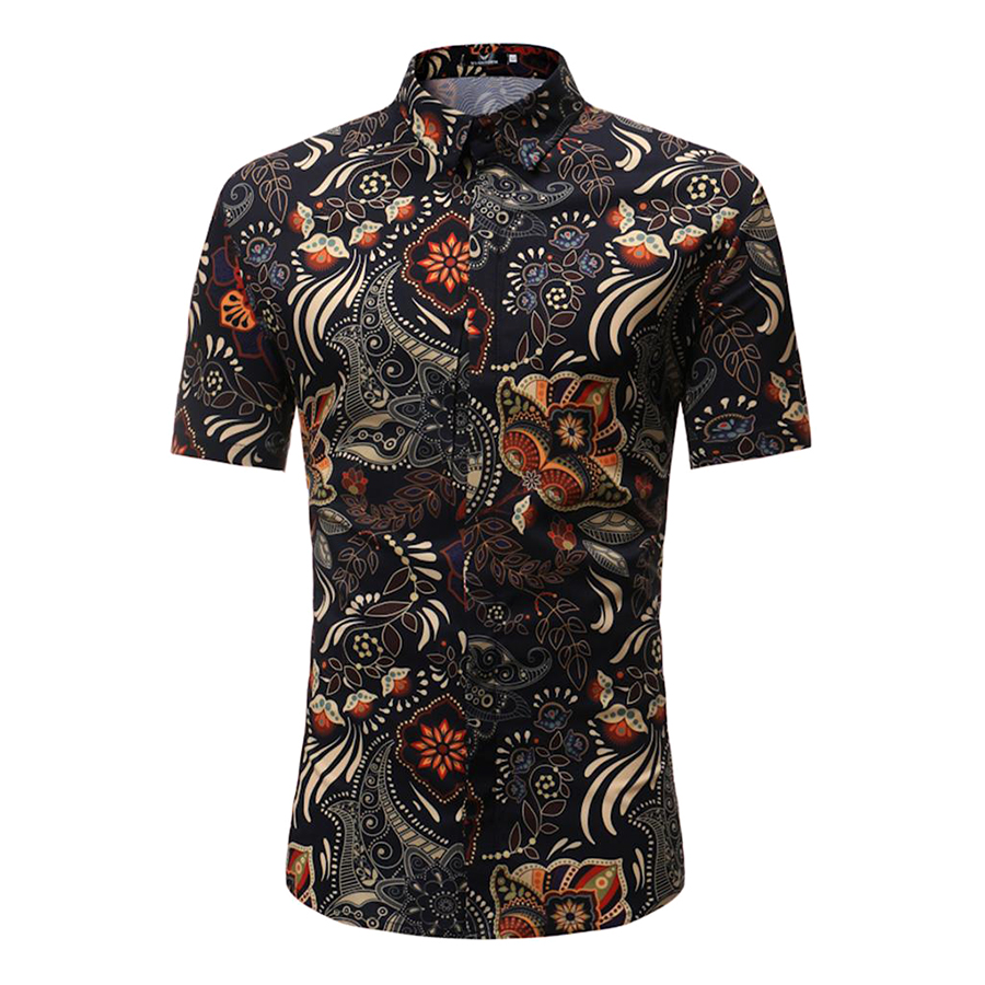 Men Summer Casual Retro Floral Printing Short Sleeve Shirt Leisure Slim Fit T-shirt - 9862672 , 5956840516230 , 62_19291458 , 211000 , Men-Summer-Casual-Retro-Floral-Printing-Short-Sleeve-Shirt-Leisure-Slim-Fit-T-shirt-62_19291458 , tiki.vn , Men Summer Casual Retro Floral Printing Short Sleeve Shirt Leisure Slim Fit T-shirt