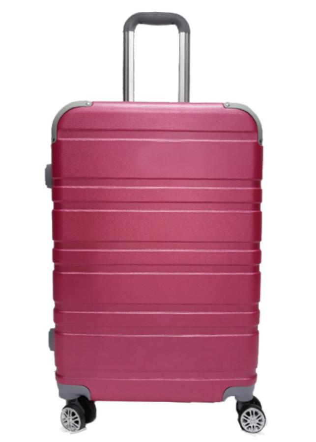 Vali du lịch kéo nhựa vân đôi (doubled)