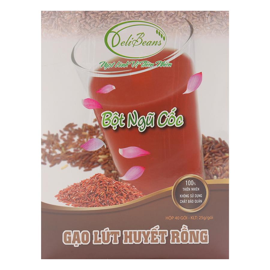Bột Ngũ Cốc Gạo Lứt Huyết Rồng Deli Beans - Hộp 40 Gói - 1433341 , 2228480116365 , 62_7532885 , 266000 , Bot-Ngu-Coc-Gao-Lut-Huyet-Rong-Deli-Beans-Hop-40-Goi-62_7532885 , tiki.vn , Bột Ngũ Cốc Gạo Lứt Huyết Rồng Deli Beans - Hộp 40 Gói
