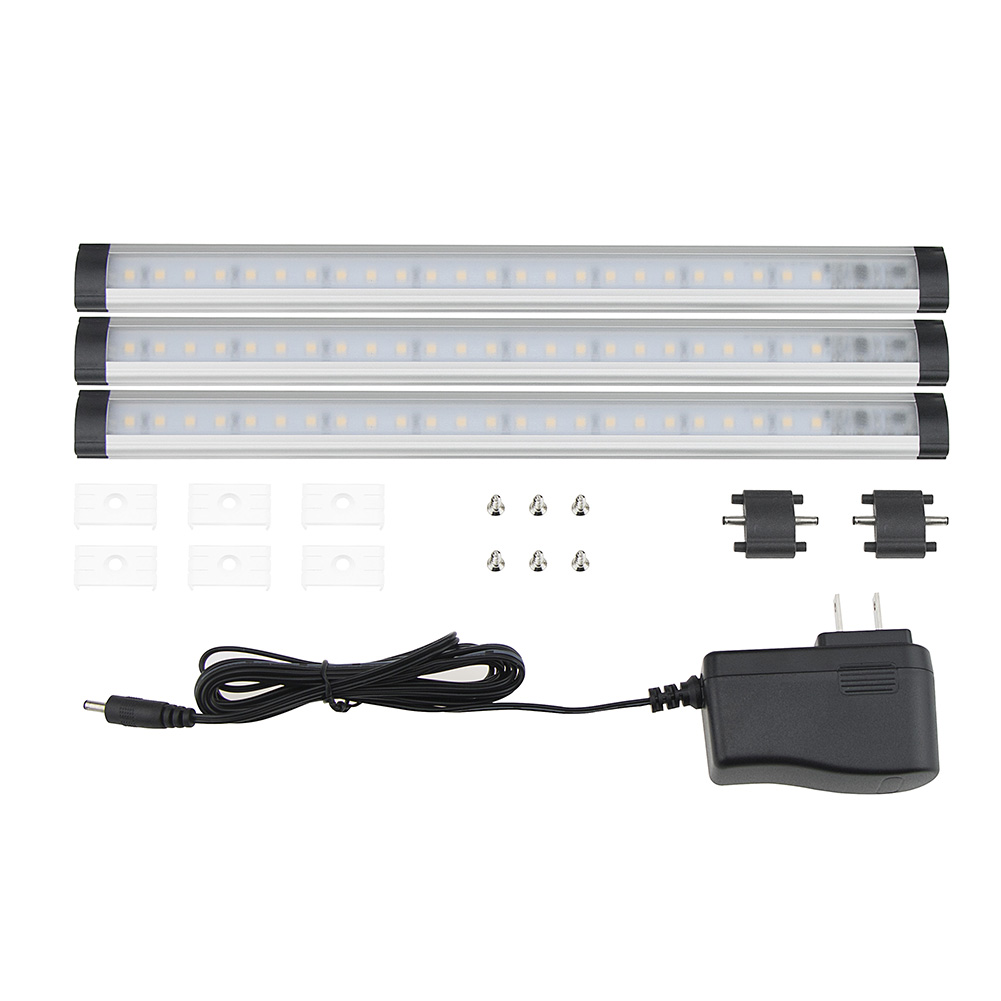 12V LED Kit Home Kitchen Cabinet Cupboard Shelf Strip Lamp Link Light
