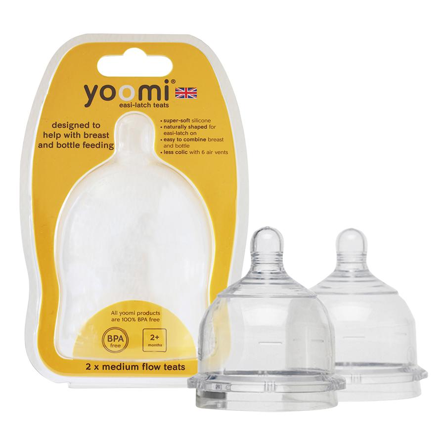 Núm Ty Silicon Siêu Mềm Yoomi - Cho Trẻ Từ 2 Tháng Tuổi (Vỉ Đôi)