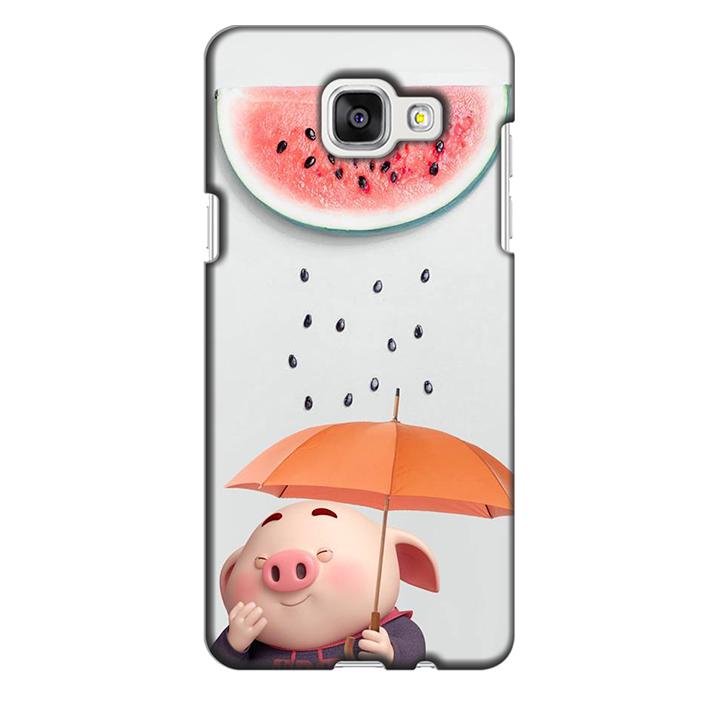 Ốp lưng nhựa cứng nhám dành cho Samsung Galaxy A5 2016 in hình Mưa Dưa Hấu