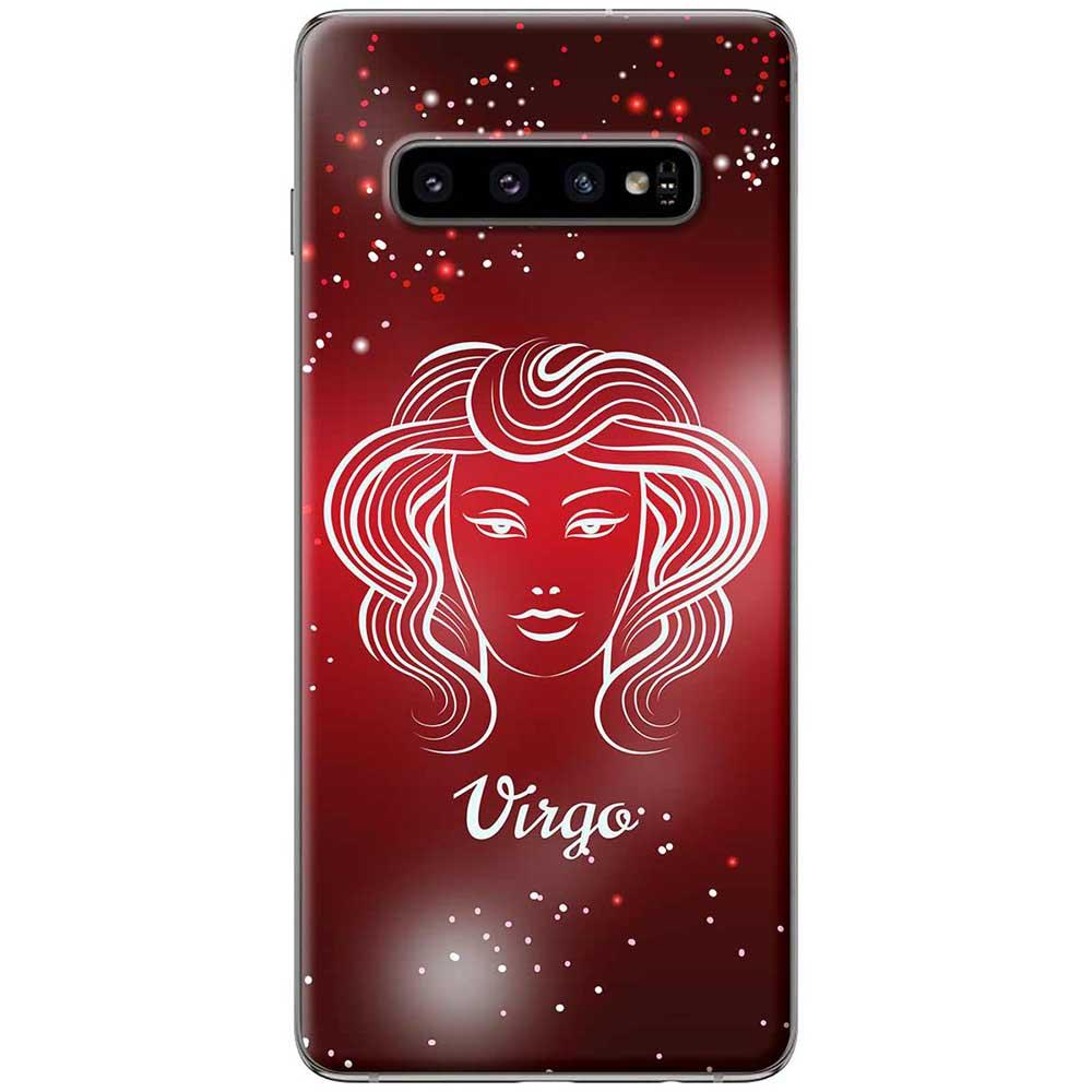 Ốp lưng  dành cho Samsung Galaxy S10 mẫu Cung hoàng đạo Virgo (đỏ)