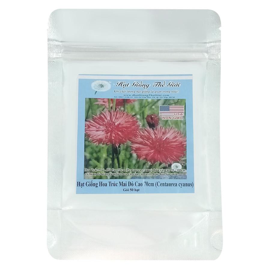 Hạt Giống Hoa Trúc Mai Đỏ Cao 70cm - Centaurea cyanus (50 Hạt)