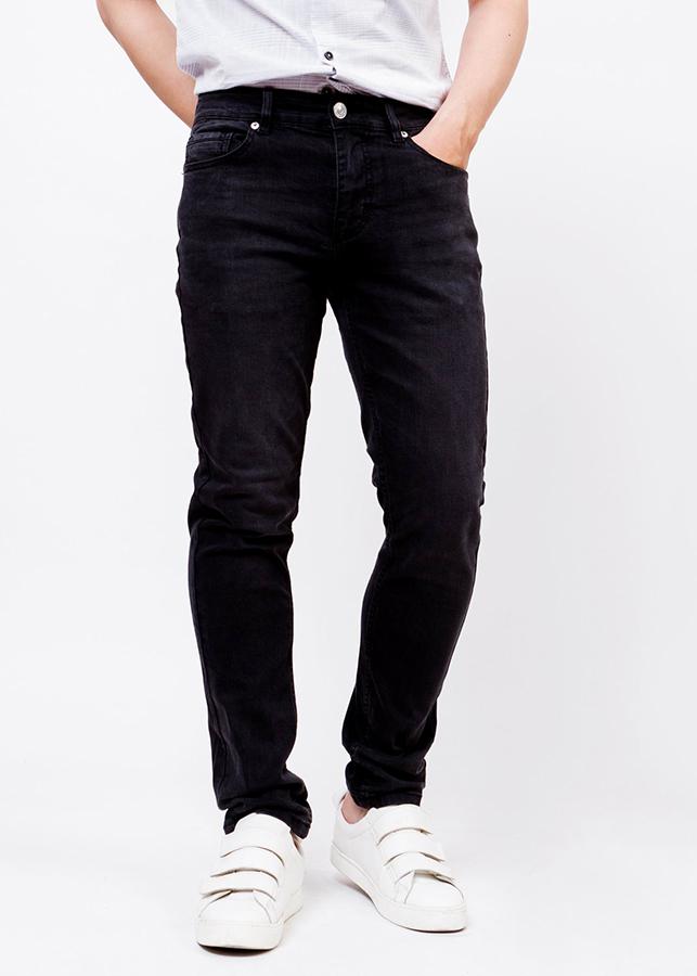 Quần Jeans Nam Mài Bạc - Đen Ninomaxx