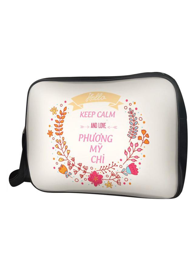 Túi Đeo Chéo Hộp Unisex Keep Calm And Love Phương Mỹ Chi - Tcvk006