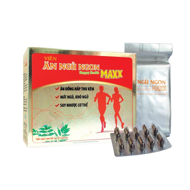 Thực phẩm chức năng Viên ăn ngủ ngon Happy Health Maxx - 1944505 , 5403536220310 , 62_13673477 , 100000 , Thuc-pham-chuc-nang-Vien-an-ngu-ngon-Happy-Health-Maxx-62_13673477 , tiki.vn , Thực phẩm chức năng Viên ăn ngủ ngon Happy Health Maxx