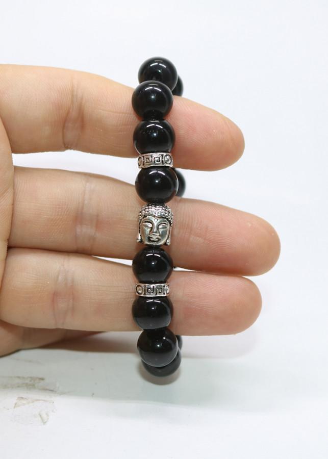 Vòng tay đá obsidian Mix tượng phật - Lắc tay đá phong thủy - Vòng tay mặt phật