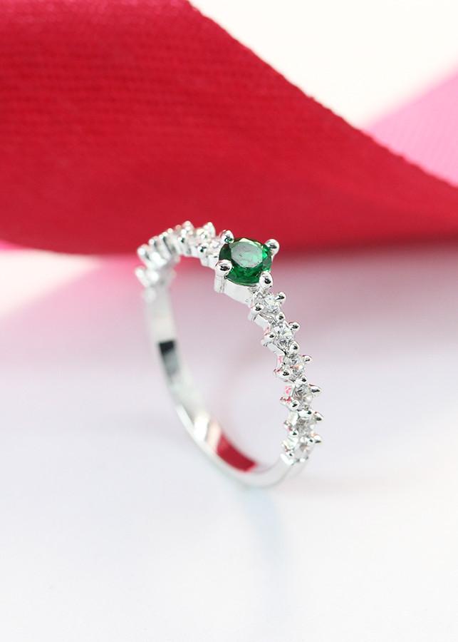 Nhẫn bạc nữ đẹp đính đá xanh lá cây tinh tế NN0213 - 1501690 , 6582182045153 , 62_12750745 , 280000 , Nhan-bac-nu-dep-dinh-da-xanh-la-cay-tinh-te-NN0213-62_12750745 , tiki.vn , Nhẫn bạc nữ đẹp đính đá xanh lá cây tinh tế NN0213