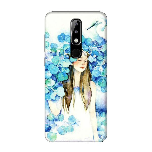 Ốp Lưng Dành Cho Điện Thoại Nokia 5.1 Plus - Cô Gái Lá Xanh