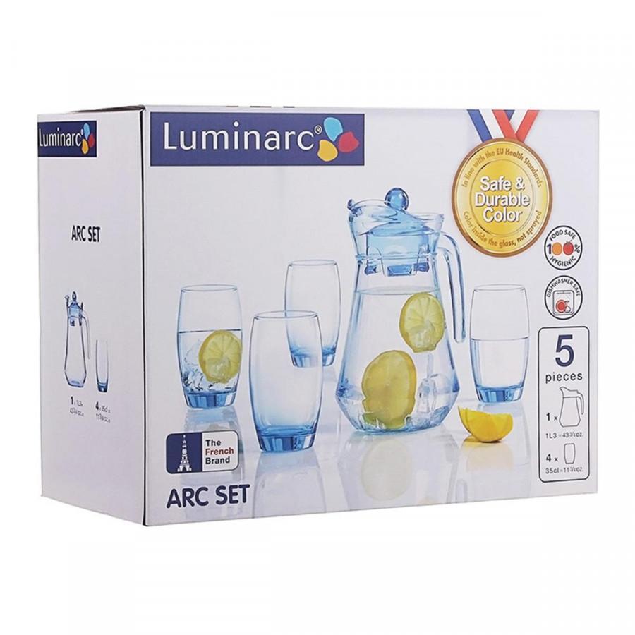 Bộ Bình Ly Thủy Tinh Luminarc 5 Món Arc Ice Blue L0535 - 1867355 , 6905124108561 , 62_14168071 , 245000 , Bo-Binh-Ly-Thuy-Tinh-Luminarc-5-Mon-Arc-Ice-Blue-L0535-62_14168071 , tiki.vn , Bộ Bình Ly Thủy Tinh Luminarc 5 Món Arc Ice Blue L0535